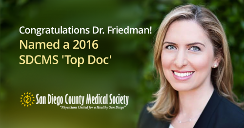 "Dr. Friedman Is a San Diego Medical Society ""Top Doc"""