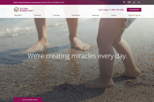 San Diego Fertility Center® Celebrates Practice Growth with Website Redesign